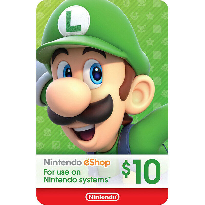Nintendo eShop Card for Switch / Wii U / 3DS $10/$20/$30/$40/$50 HOT Gift Card