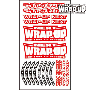 Wrap-Up Next (#0039-03) Logo / Tyre Sticker Type-A - Red