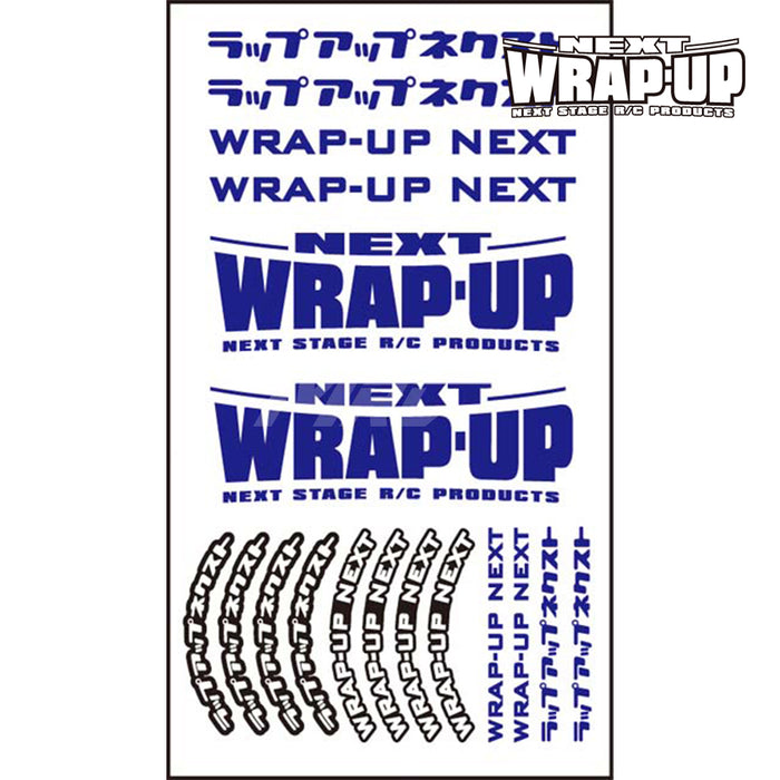 Wrap-Up Next Logo / Tyre Sticker Type-B - Blue