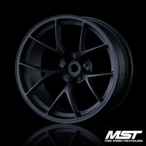 MST RID Offset +8 Wheel Set - Flat Black