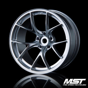 MST RID Offset +8 Wheel Set - Flat Silver