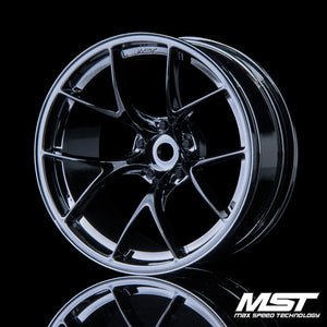 MST RID Offset +8 Wheel Set - Silver Black
