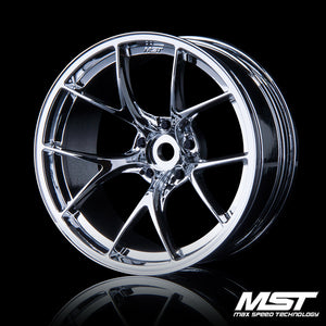 MST RID Offset +8 Wheel Set - Silver