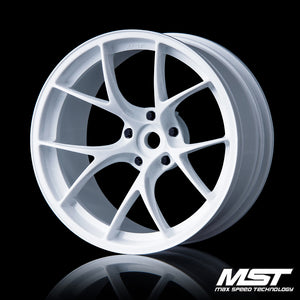 MST RID Offset +8 Wheel Set - White