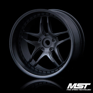 MST FB Wheel - Flat Black