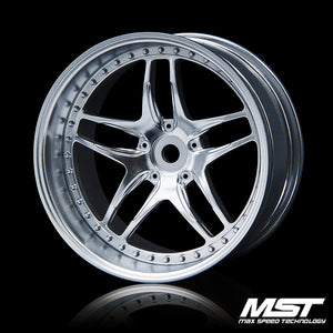 MST FB Offset +8 Wheel Set - Flat Silver