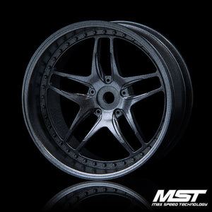 MST FB Offset +8 Wheel Set - Grey