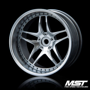 MST FB Offset +8 Wheel Set - Paint Silver
