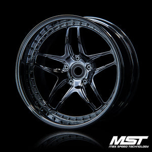 MST FB Wheel - Silver Black