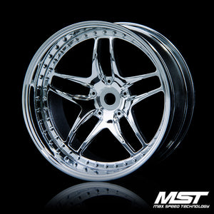 MST FB Offset +8 Wheel Set - Silver