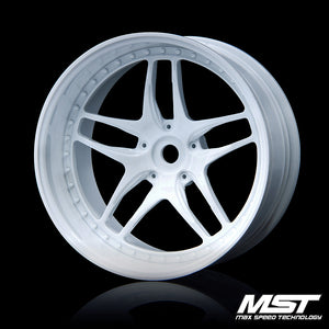 MST FB Offset +8 Wheel Set - White