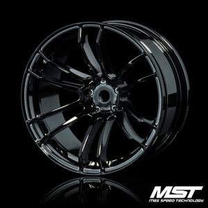 MST TSP Offset +7 Wheel Set - Silver Black