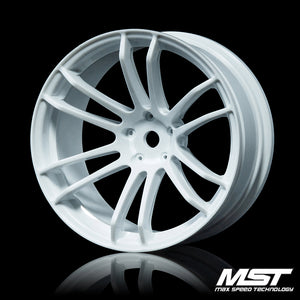 MST TSP Offset +7 Wheel Set - White