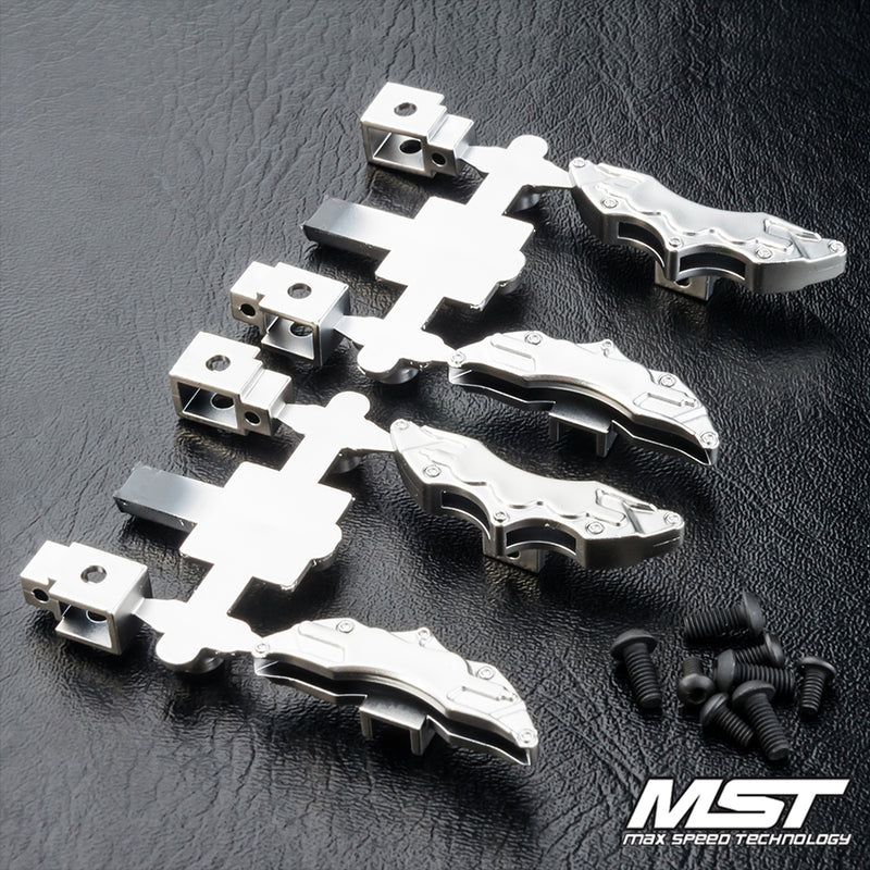 MST (#210145FS) Brake Callipers - Flat Silver