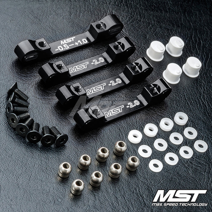 MST RMX 2.0 Alum. Suspension Mount Set - Black