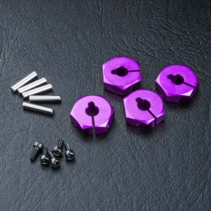 MST (#820044P) Aluminum Hex Wheel Hub 4mm - Purple