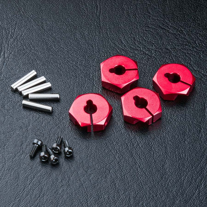 MST Alum. Hex Wheel Hub 4mm - Red