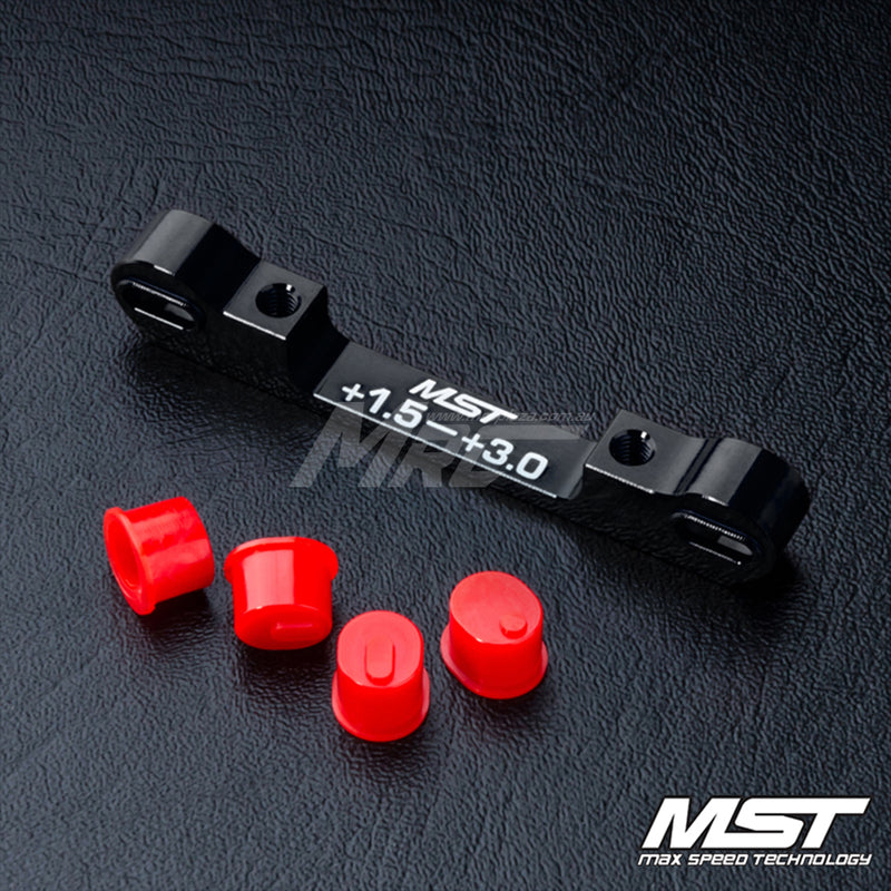 MST (#820058BK) Adjustable Aluminium Suspension Mount (+1.5-+3.0) - Black