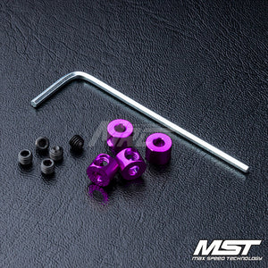 MST (#820067P) Aluminum Stabilizer Rod Stopper - Purple