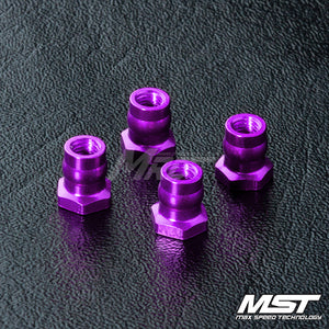 MST (#820097P) Aluminum Ball Connector Nut 4.8 - Purple