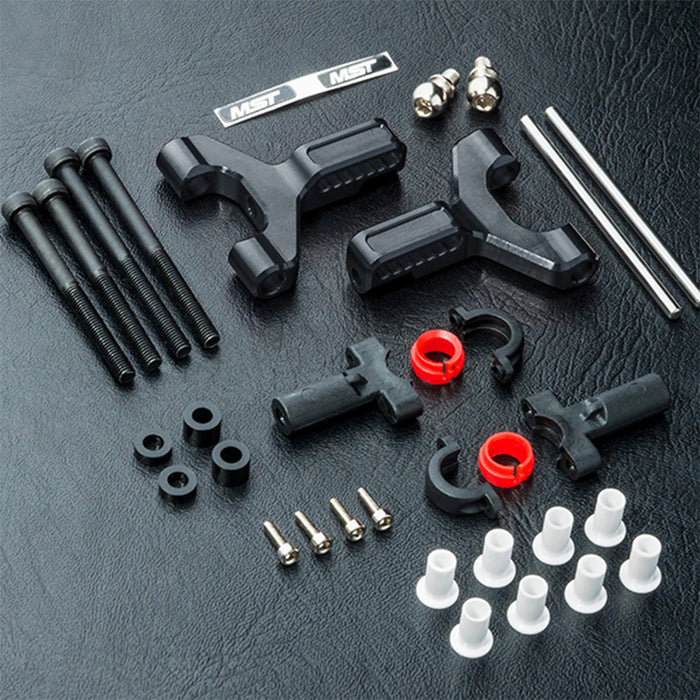 MST Alum. Front Lower Arm Set - Black