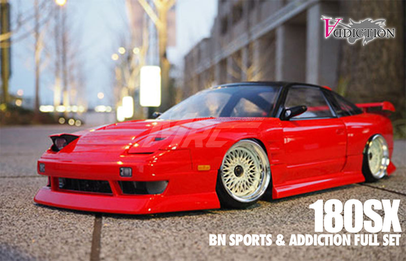 Addiction RC (#AD013-9) 180SX BN Sports & Addiction Full Set