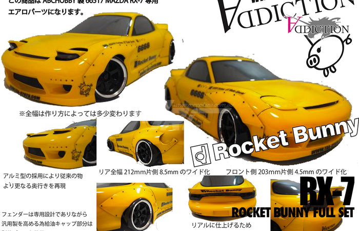 Addiction RX-7 Rocket Bunny Full Set