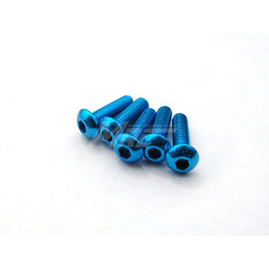Hiro Seiko Alum. Button Head Screws - Tamiya Blue