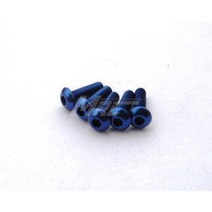 Hiro Seiko Alum. Button Head Screws - Yokomo Blue