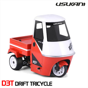 Usukani (#US88200) D3T RC EP Drift Tricycle Chasis Kit