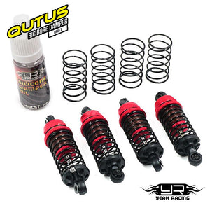 Yeah Racing (#DBB-1055RD) QUTUS Slider Damper Set - Red