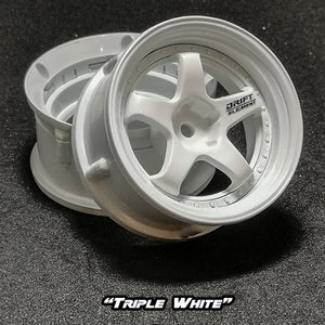 DS Racing (#DE-001) Drift Element Wheel Set - Triple White