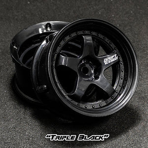 DS Racing (#DE-005) Drift Element Wheel Set - Triple Black