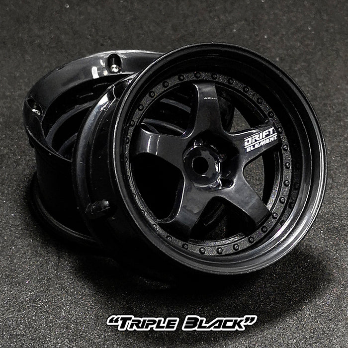 DS Racing Drift Element Wheel Set - Triple Black