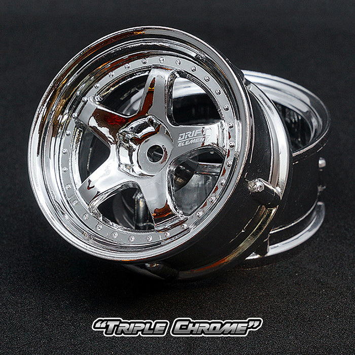 DS Racing Drift Element Wheel Set - Triple Chrome