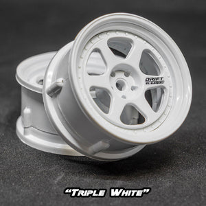 DS Racing (#DE-201) Drift Element II Wheel Set - Triple White