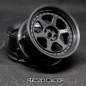 DS Racing (#DE-205) Drift Element II Wheel Set - Triple Black