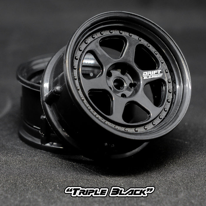 DS Racing Drift Element II Wheel Set - Triple Black