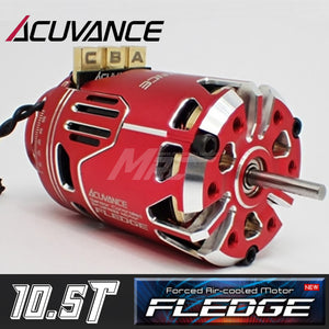 Acuvance FLEDGE 10.5T Motor w/ Fan - Red