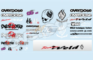 Weld X Overdose (#OD1215) Logo Decal Set