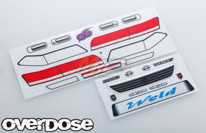 Overdose (#OD1637) 3D Graphics Series Mark II Decal Set