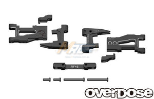 Overdose (#OD1939) Adjustable Aluminum Rear Long Suspension Arm Set - Black
