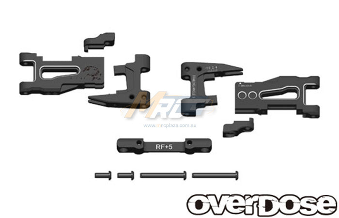 Overdose Adj. Alum. Rear Suspension Arm - Black