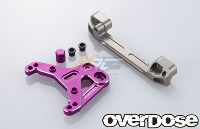 Overdose Slide-Rack Steering Set - Purple
