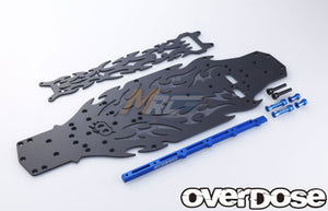Overdose (#OD2138) Matte Black Chassis Conversion Kit - Blue