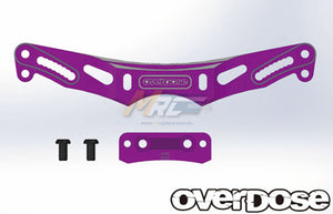 Overdose (#OD2157) Height Adjustable Alum. Rear Shock Tower - Purple