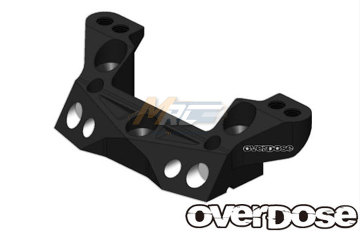 Overdose Alum. Rear Upper Arm Mount - Black