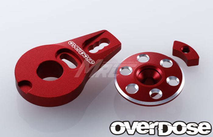 Overdose Alum. Servo Saver Horn Type-2 - Red