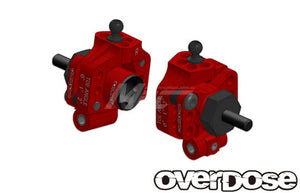 Overdose (#OD2278) Aluminum Adjustable Rear Upright - Red