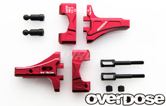 Overdose Adj. Alum. Front Suspension Arm Type-2 - Red
